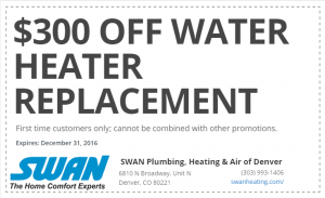 300 Off Arvada Water Heater Replacement Coupon