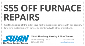 Rheem Furnace Repair Coupon