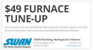 Furnace Tune Up Maintenance Coupon