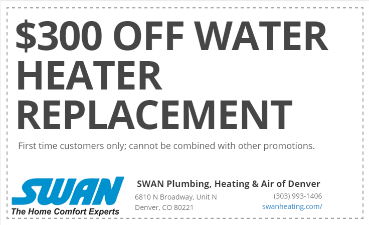 Water Heater Replacement & Installation Coupon