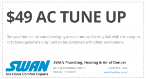 Air Conditioning Tune Up Maintenance Coupon