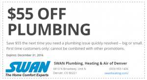 55 Dollars Off Plumbing Repairs Coupon